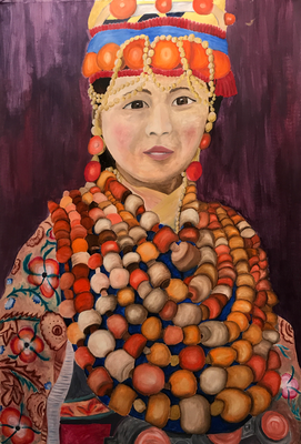 MISS NECKLACES  oil painting ca. 50 x 70 cm