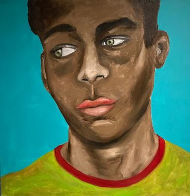 SERIE PORTRAIT 2017 #2  Oilpainting on canvas, ca. 40 x 40 cm