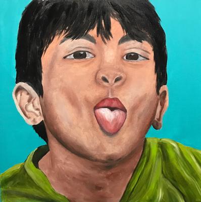 SERIE PORTRAIT 2017 #6  Oilpainting on canvas, ca. 40 x 40 cm