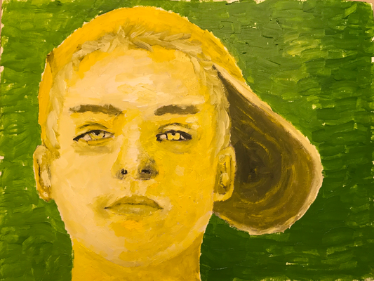 GOLDEN BOY  Oilpainting on canvas, ca. 21 x 28 cm