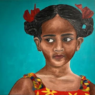 SERIE PORTRAIT 2017 #3  Oilpainting on canvas, ca. 40 x 40 cm