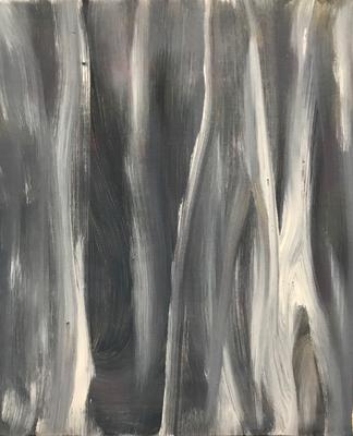 DARK FOREST  Acrylic painting on canvas, ca. 25 x 30 cm