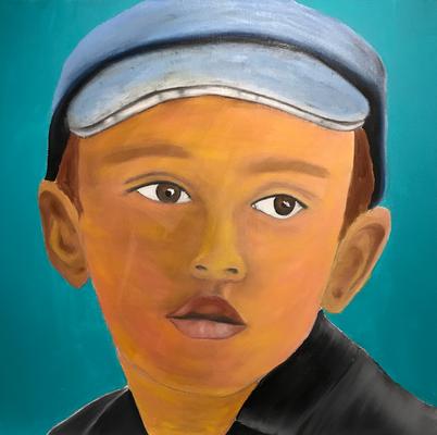 SERIE PORTRAIT 2017 #5  Oilpainting on canvas, ca. 40 x 40 cm