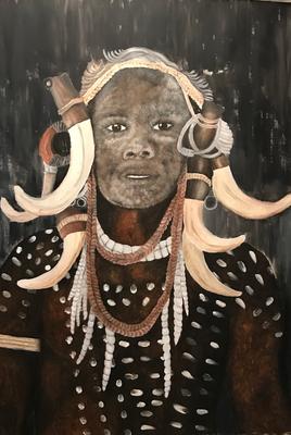 AFRICA  oil painting ca. 50 x 70 cm