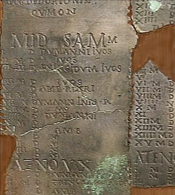le mois de Samonios calendrier de Coligny