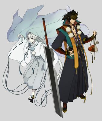 アツヒラとミハヤ 剣客と水鬼