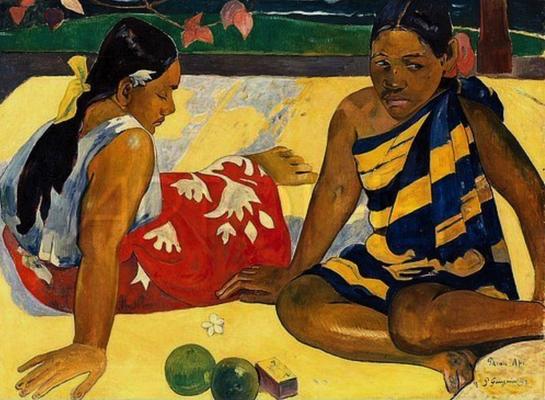 4290 - Zwei Frauen von Tahiti - Paul Gauguin