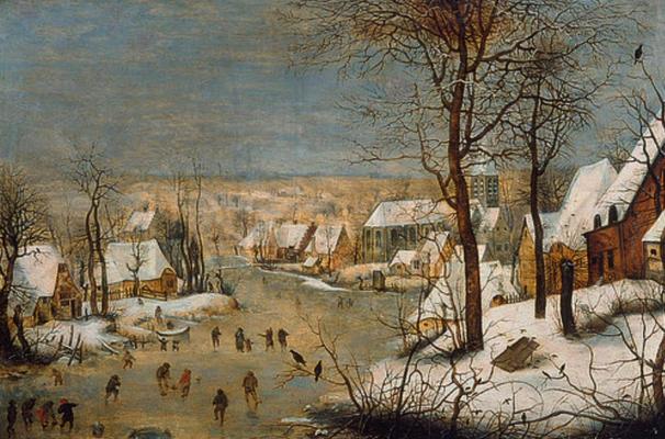 18467 - Winterlandschaft mit Schlittschuhlaeufern - Pieter Brueghel