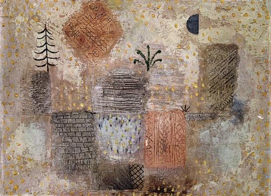 17684 - Park mit dem kuehlen Halbmond - Paul Klee