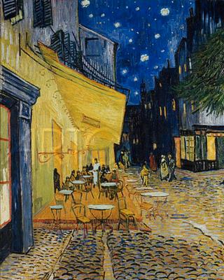 5786 - Terasse am Abend - Le Cafe le Soir - Vincent van Gogh