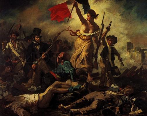 8971 - Die Freiheit fuerht das Volk - Eugene Delacroix