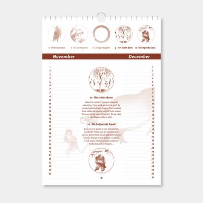 Plaatjes van de Os kalender - blad 6