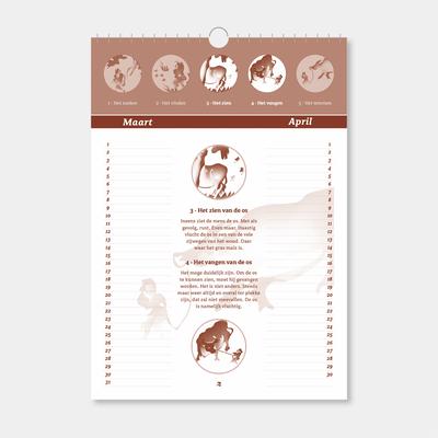 Plaatjes van de Os kalender - blad 2