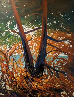 "Breeze 3:8:2 by Wai Lee   acrylic on Canvas  60"" x 48"" x 1 $600"