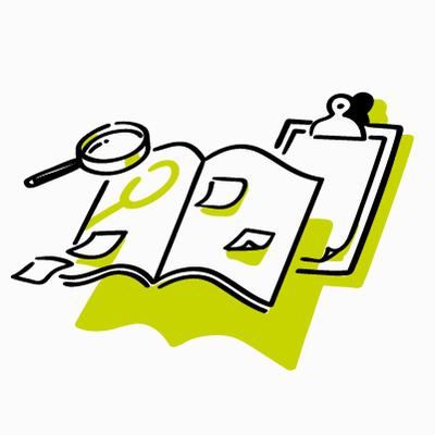 Vektor-Grafik Sachbuch