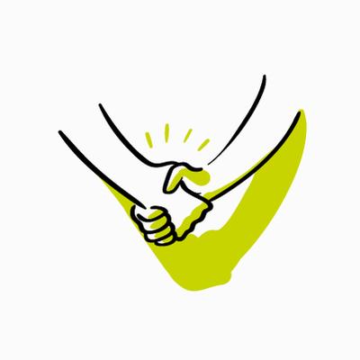 Zeichnung Handshake