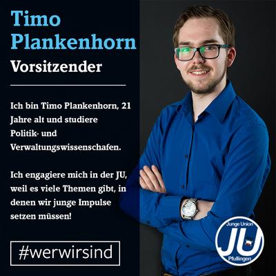 Timo Plankenhorn ist seit 2013 der Vorsitzende unseres Stadtverbands