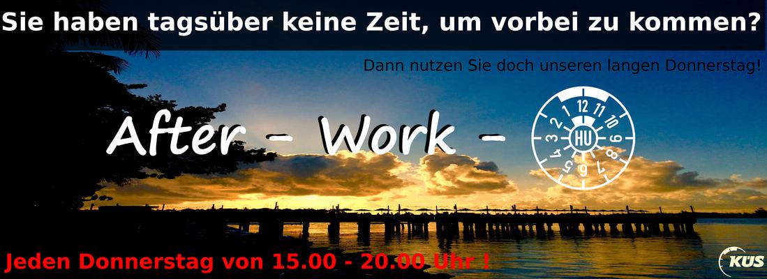 After-Work-TÜV- Hauotuntersuchungen auch abends in Bergisch Gladbach