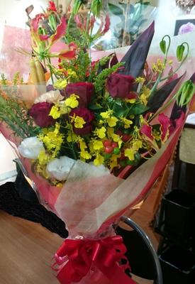 お祭りの花束