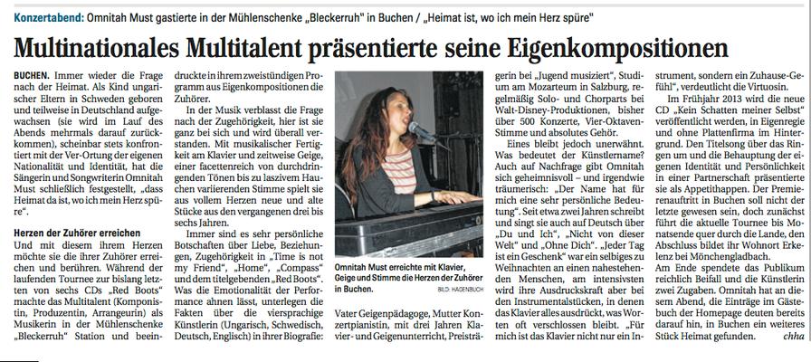 """Buchen, """"Mühlenschenke Bleckeruh"""" 2012"""