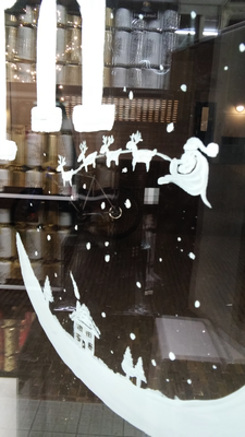 Kelly's - Wassenaar - kerst raam illustraties / christmas window painting
