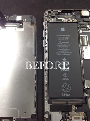 内部が汚れたiPhone6
