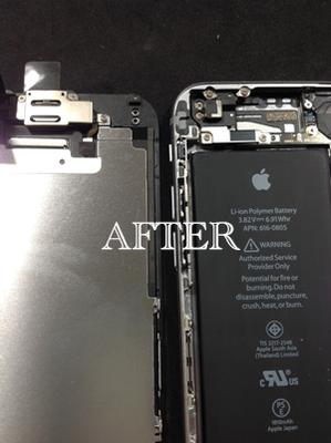 内部クリーニング後のiPhone6