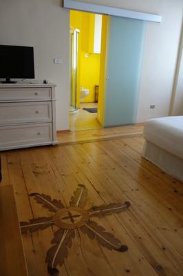 Unser Zimmer im Al Cavour 34 in Trient. Wirklich sehr empfehlenswert.