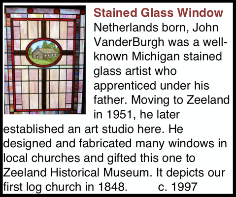 """This Stained Glass Window was originally installed in the """"Church Room""""."""