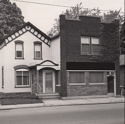 1975 - The front of the store in 1975 shows a different facade and new windows on the upper floor. The Historical Society purchased the property from Randall Dekker in 1974.