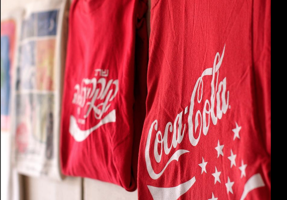 Ken and Kathy Westveld, of Holland, have been collecting Coca-Cola memorabilia for more than 10 years. Approximately 350 pieces that they own are on display at the Zeeland Historical Society through Memorial Day. Rob Wetterholt Jr./Sentinel Staff