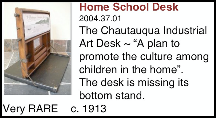 In the first slide you can see our home school desk, missing the bottom stand.