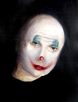 Maskierte Gesellschaft I.2, Acryl auf Papier, 65 x 50cm, 2015.