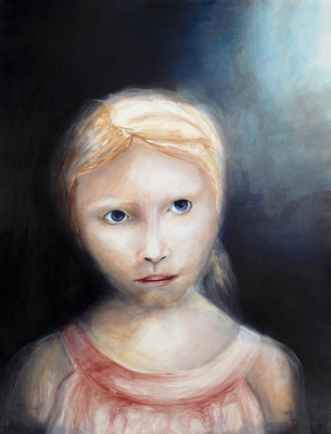 Maskierte Gesellschaft I.1, Acryl auf Papier, 65 x 50cm, 2015.