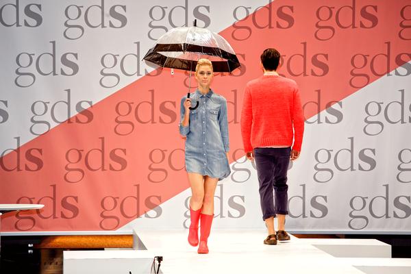 Szene der internationalen Schuhmesse GDS in Düsseldorf