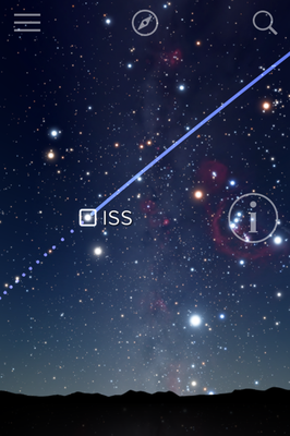 Screenshot Sky Guide APP