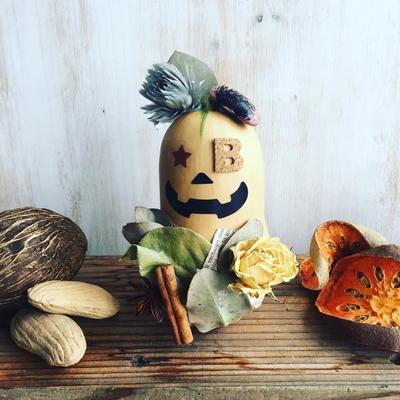 新宿ニュウマン ハロウィンワークショップ「バターナッツかぼちゃのハロウィン飾り」