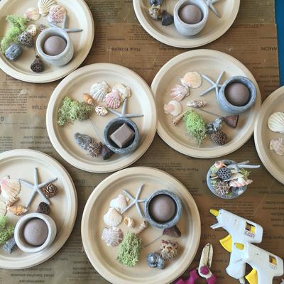親子ワークショップ「貝殻を使ったアレンジメント」