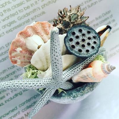 8月表参道 親子ワークショップ「貝殻を使ったアレンジメント」