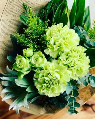 5月 東京 表参道1dayレッスン「グリーンブーケ(生花)」作り
