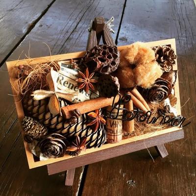 2月 長野 飯田1dayレッスン「チョコレート色のボタニカルプレート」