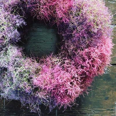 6月 長野 飯田1dayレッスン 『スモークツリーのリース』作り