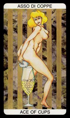 Tarot érotique du jardin de Priape - Érotique - As de Coupes