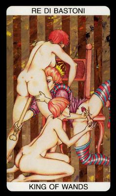 Tarot érotique du jardin de Priape - Érotique - Roi de Bâtons