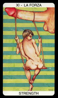 Tarot Érotique des Jardins de Priape - XI La Force