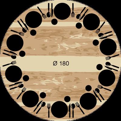 Quelles dimensions de table pour vos convives artmeta - Diametre table ronde pour 10 personnes ...