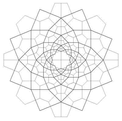 Rosette mit 135° Drachen