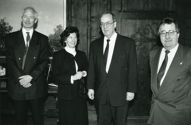 26.02.1993 Besuch von Manfred Rommel, Oberbürgermeister in Stuttgart Foto: Roland Korner, Triesen