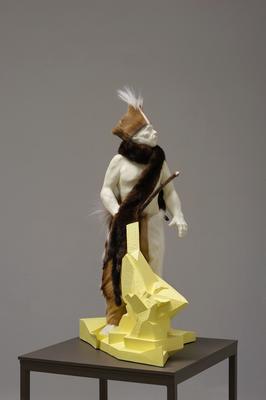 Wild   2015   cast   fur   wooden stick   90 x 80 x 65 cm