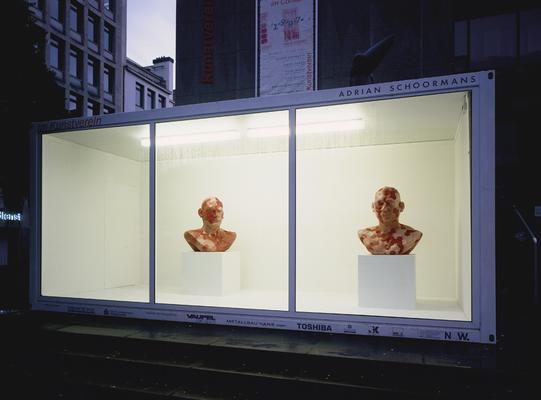 Biomorphes Portrait | 1997 | Gypsum | Pigment | 100 x 85 x 50 cm